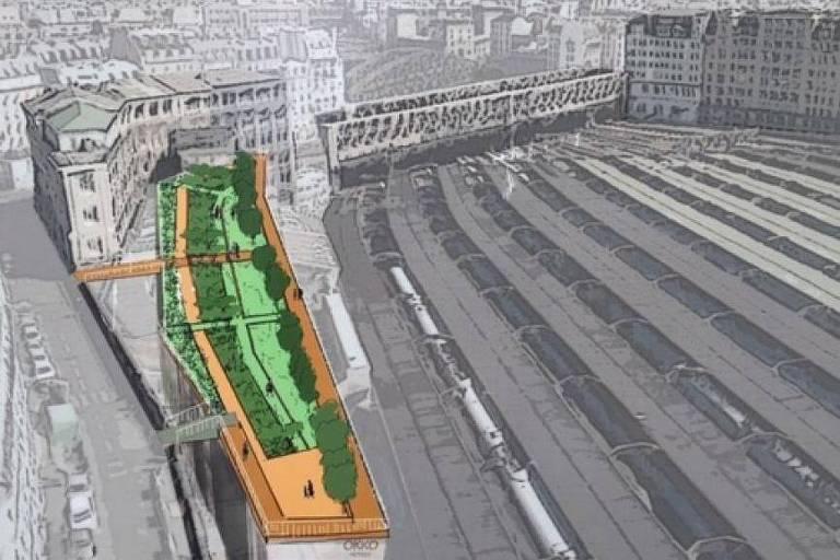 Informe sobre área verde no centro de Paris, futuro Jardim Marielle Franco