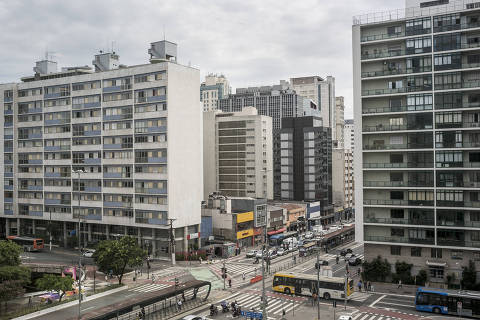 BR - Sao Paulo - SP - 15.01.2019 - REVISTA SAOPAULO - DESCUBRA SAO PAULO - Vista da esquina da Rua da Consolação com a Avenida Paulista. Foto: Keiny Andrade/Folhapress