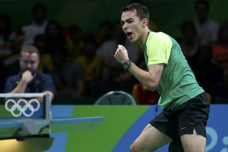 Mesa-tenista Hugo Calderano