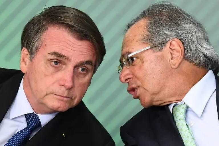 Jair Bolsonaro e Paulo Guedes no Financial Times