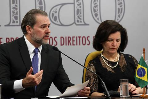 Conclusões de inquérito sobre fake news vão para o Ministério Público, diz Toffoli
