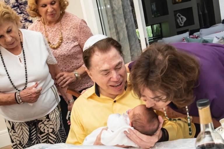 Silvio Santos e Senor, neto
