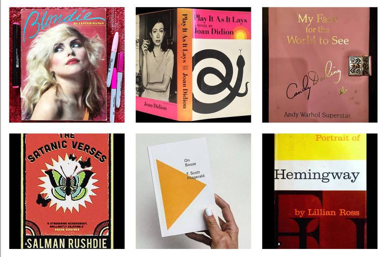 Livros mostrados por participantes do desafio nas redes sociais