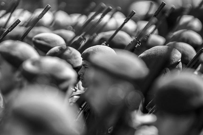 Militares durante cerimônia na capital paulista, no dia 18 deste mês