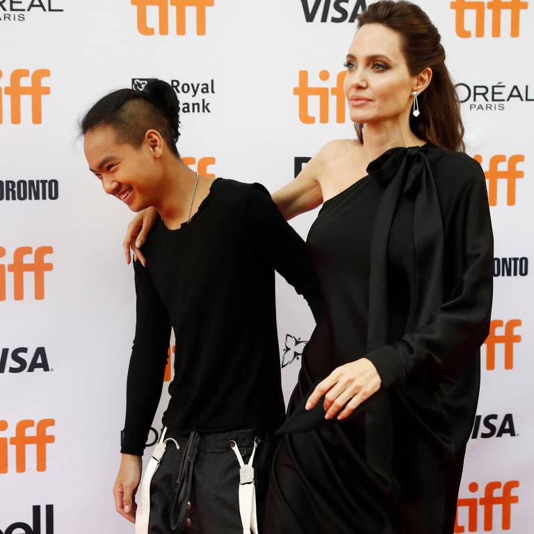 Angelina Jolie e o filho Maddox Jolie-Pitt