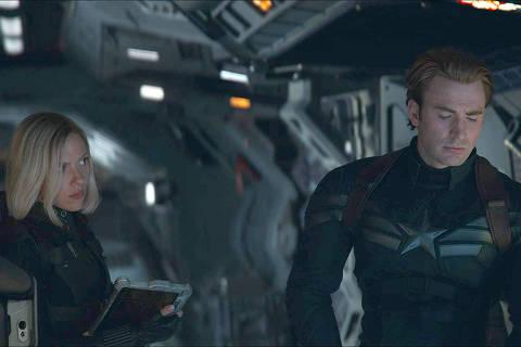 Chris Evans and Scarlett Johansson in Avengers: Endgame (2019) Foto: IMDB * Vingadores  Ultimato *