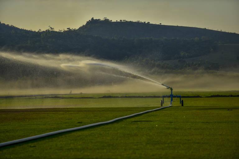 Terra molhada - Irrigação