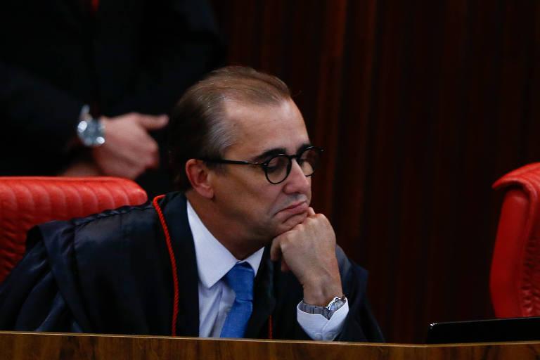 O ministro do TSE Admar Gonzaga Neto durante julgamento da chapa Dilma/Temer, em 2017