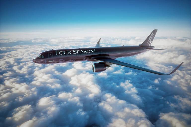 Avião da Four Seasons em voo