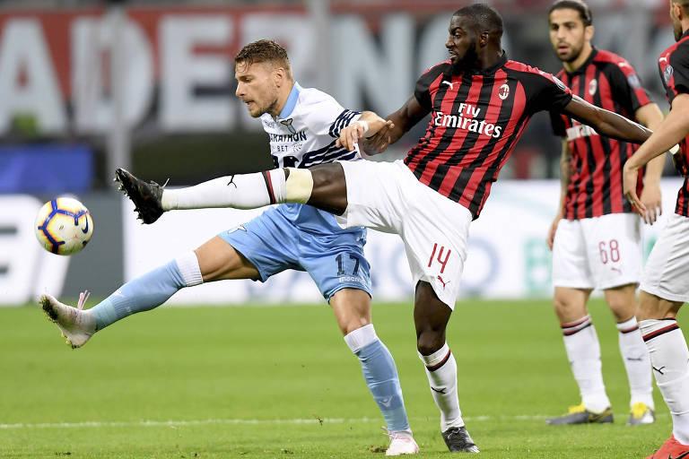 Bakayoko, do Milan, foi alvo novamente de cânticos racistas dos torcedores da Lazio
