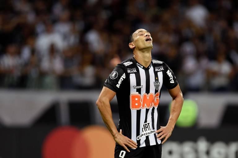 Ricardo Oliveira durante partida do Atlético-MG, clube da Série A mais endividado com a União