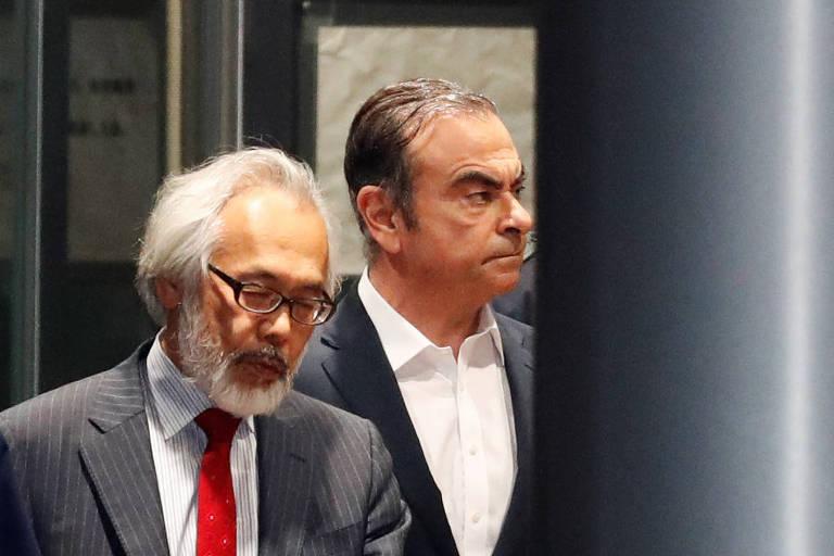 Carlos Ghosn deixa prisão após pagar fiança, pela segunda vez