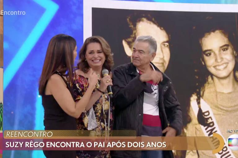 Programa Encontro com Fátima Bernardes promoveu a reunião de família