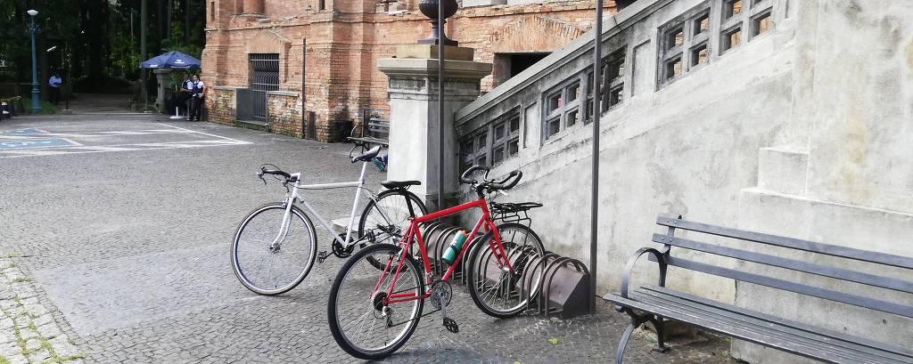 Bicicletário na Pinacoteca