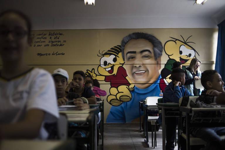 Escola estadual em Guarulhos, na Grande São Paulo