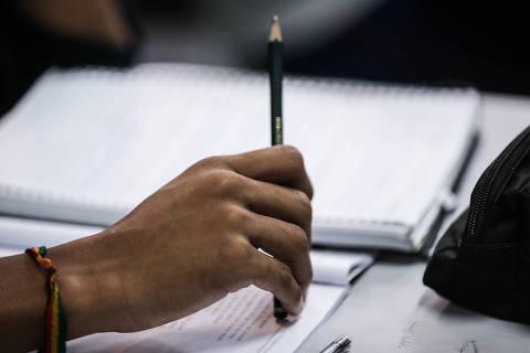 SAO PAULO/SP-BRASIL, 30/08/2018 - Escola Maestro Fabiano Lozano - Ministério da Educação divulga os dados da avaliação federal que mede a aprendizagem de português e matemática dos alunos do Brasil. Foto: Zanone Fraissat - Folhapress / COTIDIANO)***EXCLUSIVO***