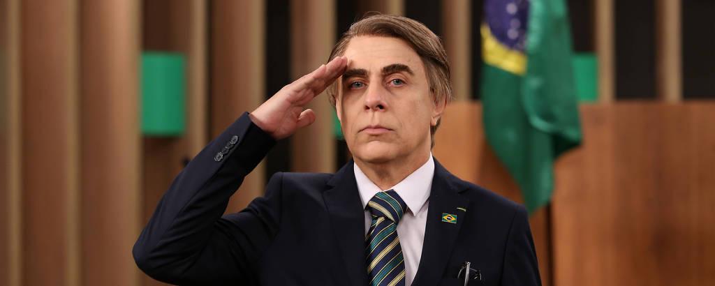 Tom Cavalcante como Jair Bolsonaro em cena da quarta temporada de MultiTom