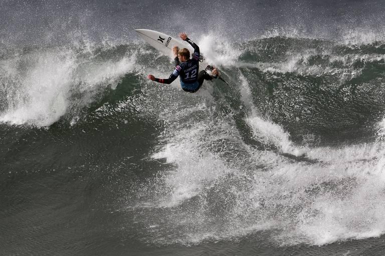 John John Florence na etapa de Bells Beach do Mundial de surfe