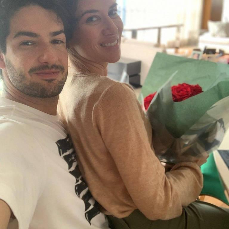 Alexandre Pato com a namorada, Rebeca Abravanel