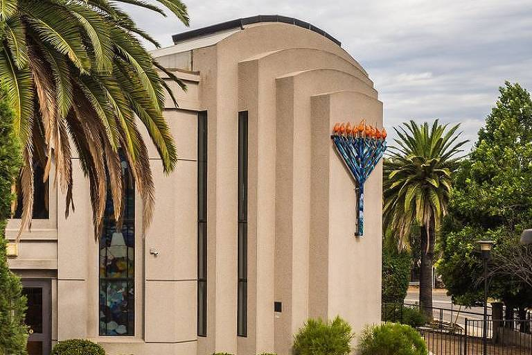 Fachada da sinagoga atacada em Poway, na Califórnia, em imagem de arquivo