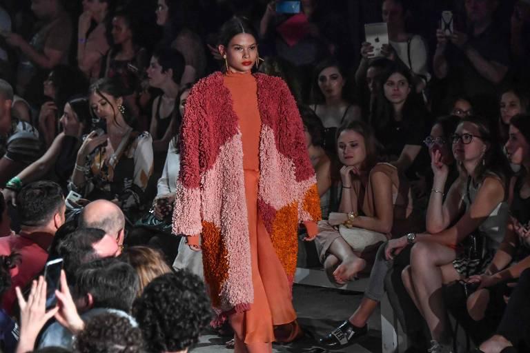 Desfile da grife Flavia Aranha na semana de moda de São Paulo