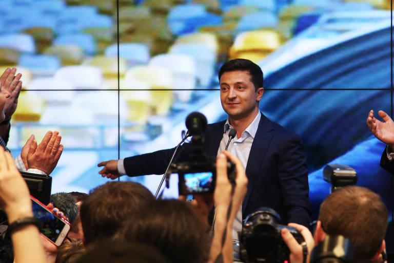O presidente eleito da Ucrânia, Volodymyr Zelensky