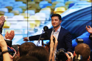 UKRAINE-KIEV-ZELENSKY-PRESIDENTIAL ELECTION-WINNING