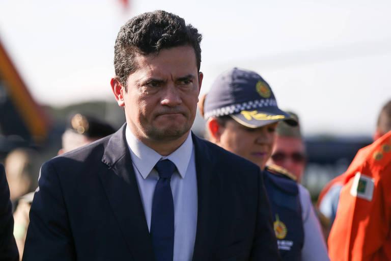 O ministro da Justiça, Sergio Moro, participa de solenidade que envolve as polícias militares e bombeiros militares de todo o país
