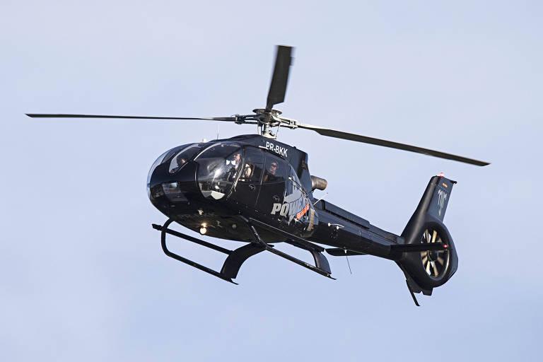 Helicóptero com iniciais de Neymar sobrevoa a Granja Comary no período da Copa de 2014