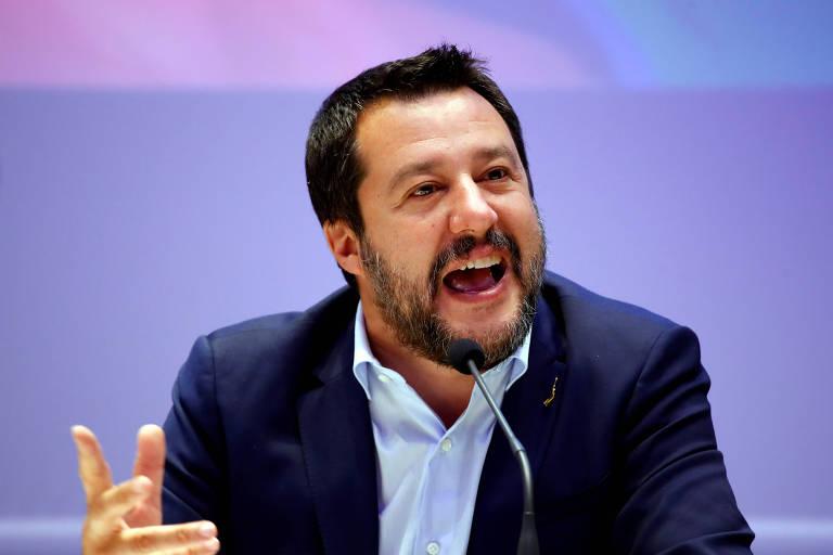 Salvini, ídolo italiano dos Bolsonaros, é acusado de trambiques