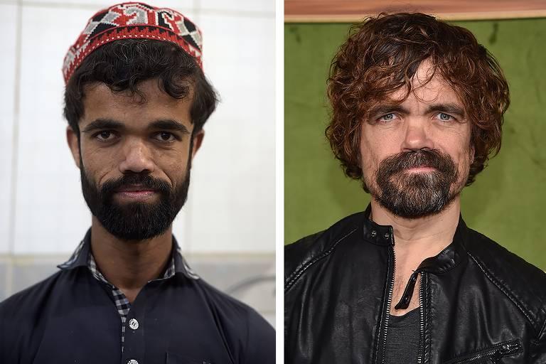 À esq., o garçom paquistanês Rozi Khan; à dir., o ator americano Peter Dinklage, de 'Game of Thrones'