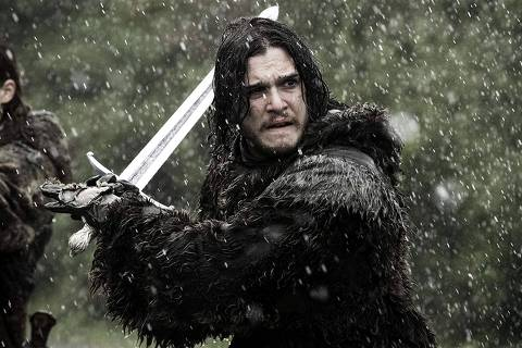 Jon é Snow é interpretado porKit Harington na série Game of Thrones