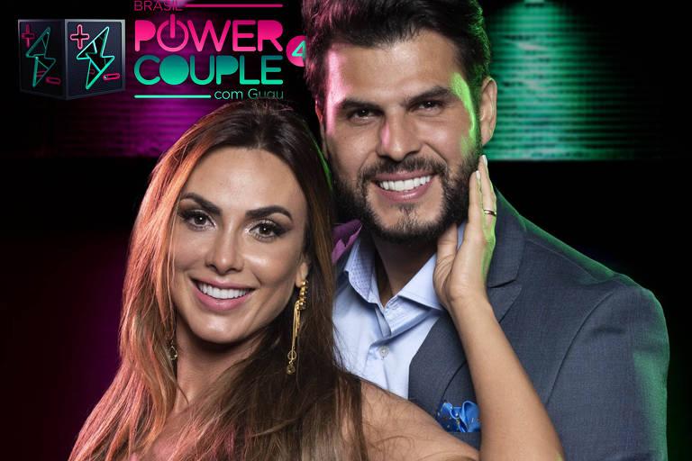 Nicole Bahls e Marcelo Bimbi participam da quarta temporada do Power Couple Brasil