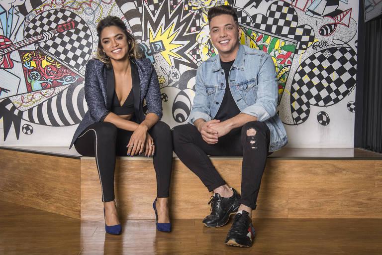 Coletiva do SóTocaTop com Wesley Safadão e Lucy Alves (apresentadores)