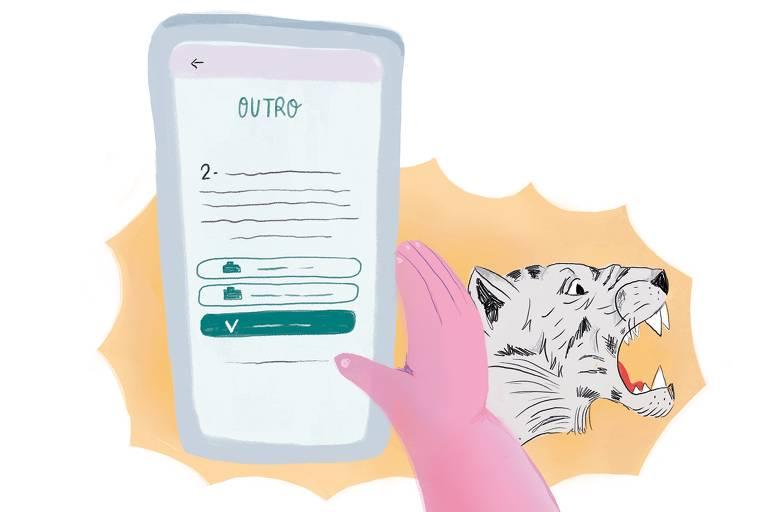 Ilustração de aplicativo