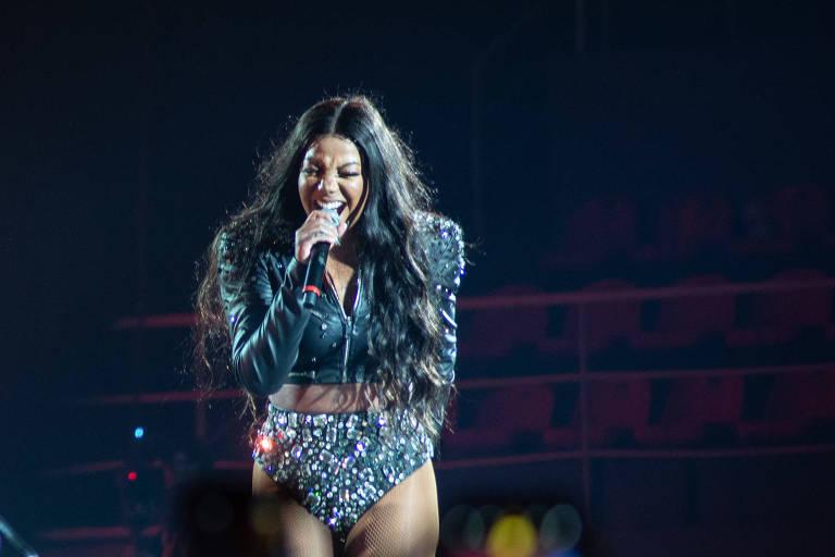 Ludmilla durante a gravação do seu DVD na Jeunesses Arena, Barra da Tijuca, Rio de Janeiro