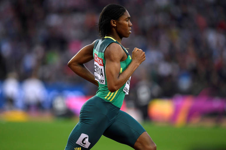 Caster Semenya na prova dos 800 m no Mundial de Londres, em 2017