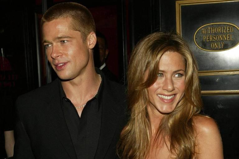 Brad Pitt e Jennifer Aniston em 2004, quando ainda estavam casados
