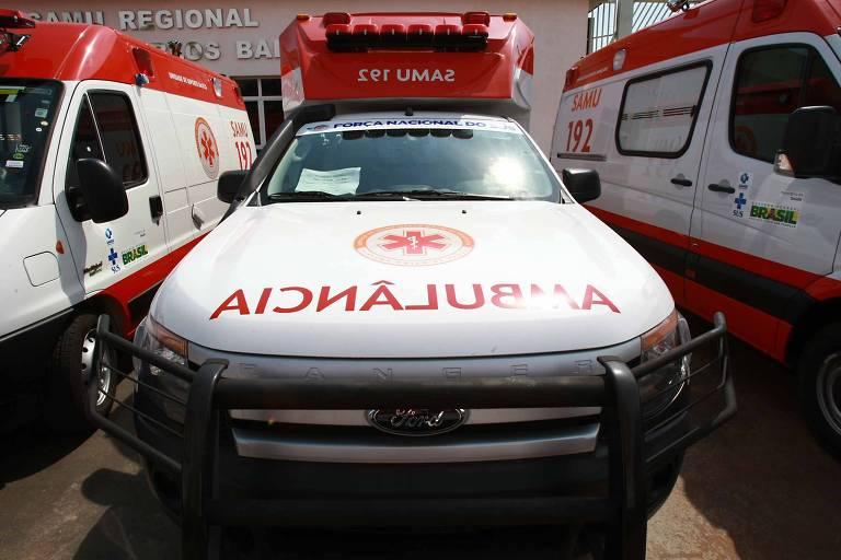 Ambulância do Samu em Ribeirão Preto (SP)