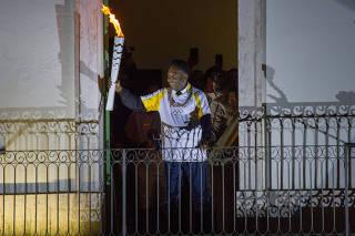 Tocha Olímpica em Santos/SP