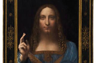 FILE PHOTO: Christie's New York image of Leonardo da Vinci painting Salvator Mundi