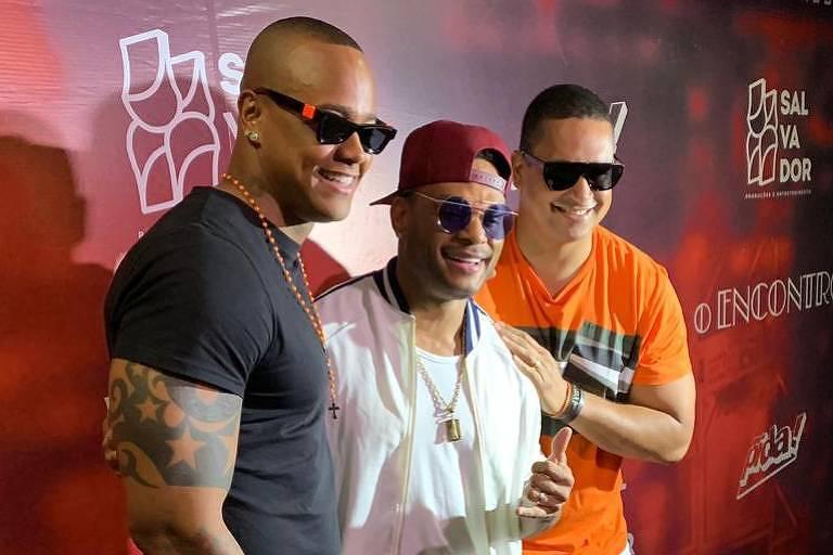 Léo Santana, Tony Salles e Xanddy se encontram para show O Encontro