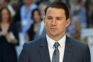 Actor Channing Tatum poses at the European premiere of