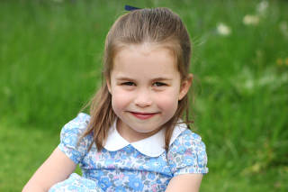 Britain's Princess Charlotte poses ahead of fourth birthday in London