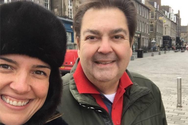 Fausto Silva e Luciana Cardoso