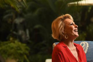 Retrato da apresentadora Ana Maria Braga