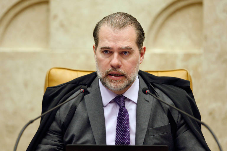 O presidente do STF, ministro Dias Toffoli, durante sessão plenária na corte