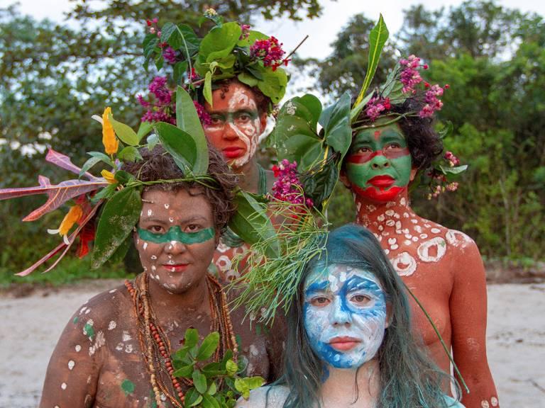 Mulheres do grupo As Iyagbás