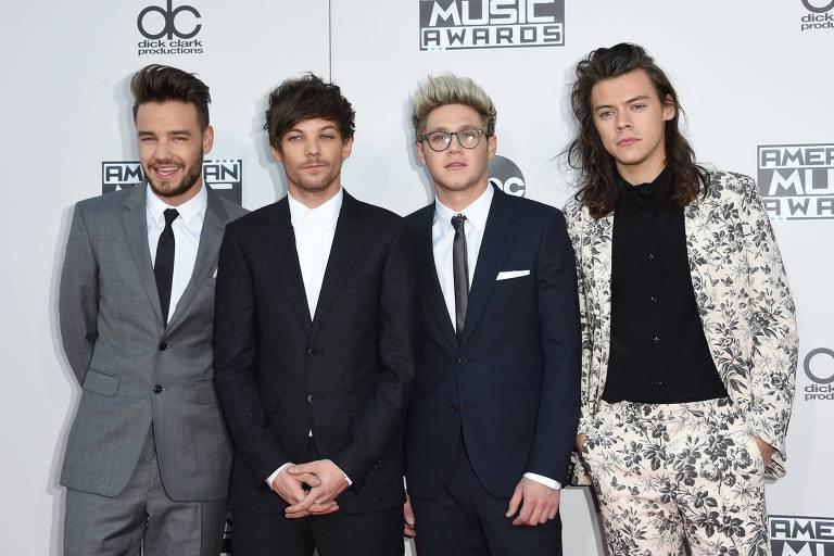 Liam Payne, Louis Tomlinson, Niall Horan e Harry Styles em foto de 2015