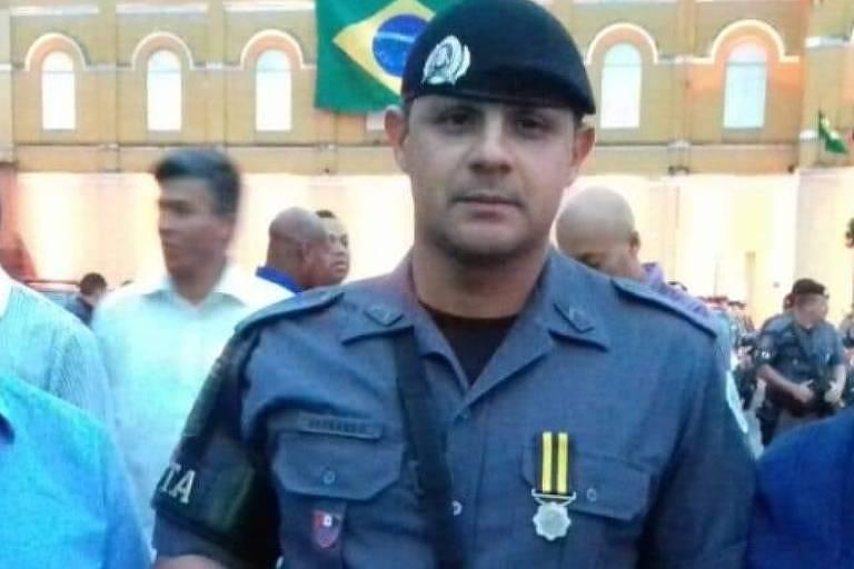 Cabo Fernando Flávio Flores que morreu atingido por tiros de fuzil neste sábado (4) em SP